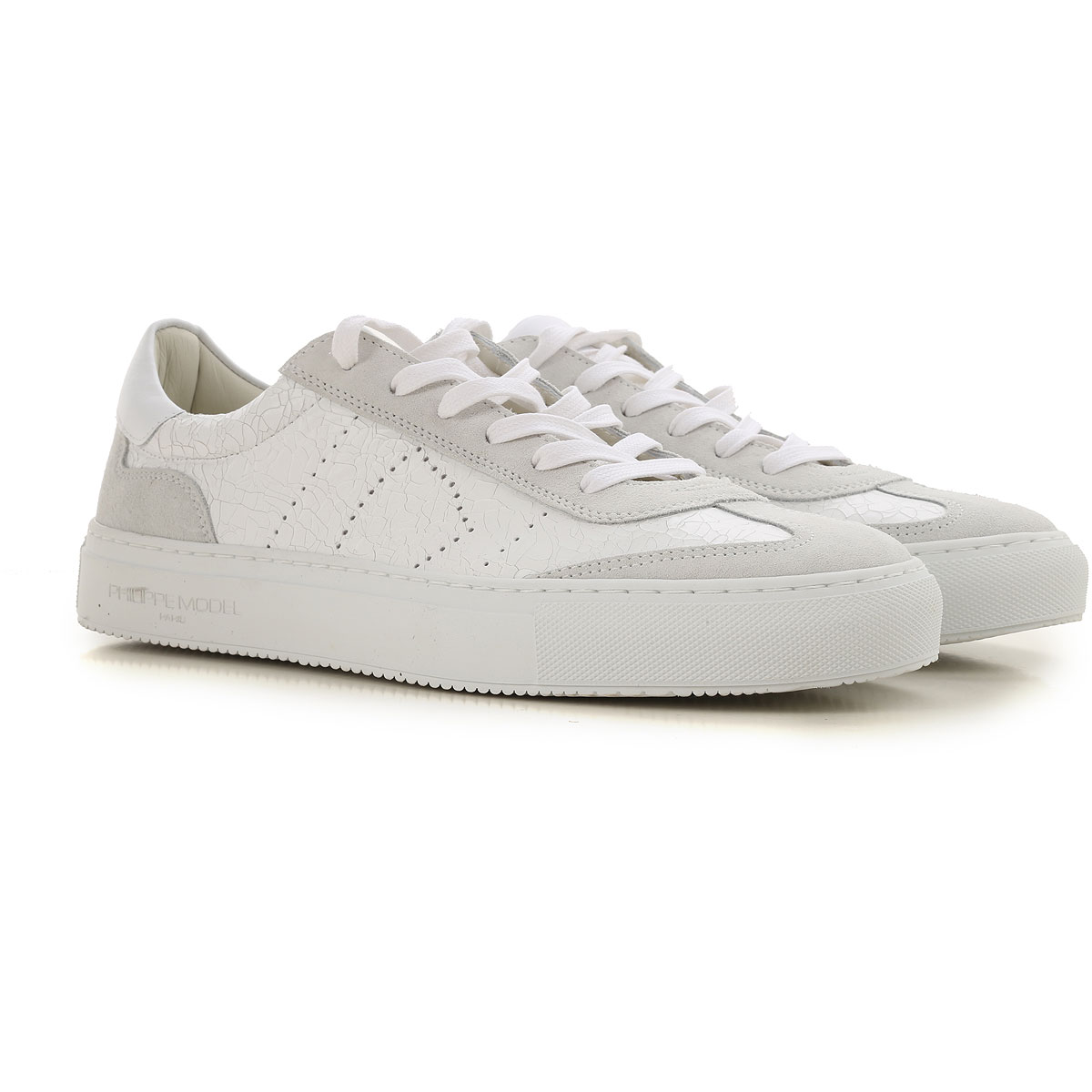 Philippe Model Sneakers for Men On Sale, White, Leather, 2019, EUR 40 - US 7 -  UK 6 EUR 41 - US 8 -  UK 7