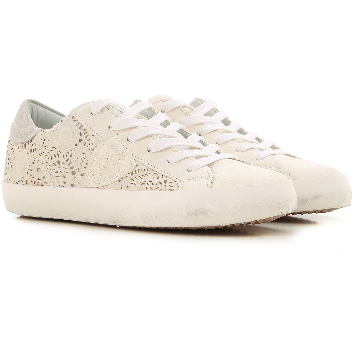 Philippe Model Kids Shoes for Girls On Sale in Outlet, Cream, Leather, 2019, 29 30 31 32 33 35