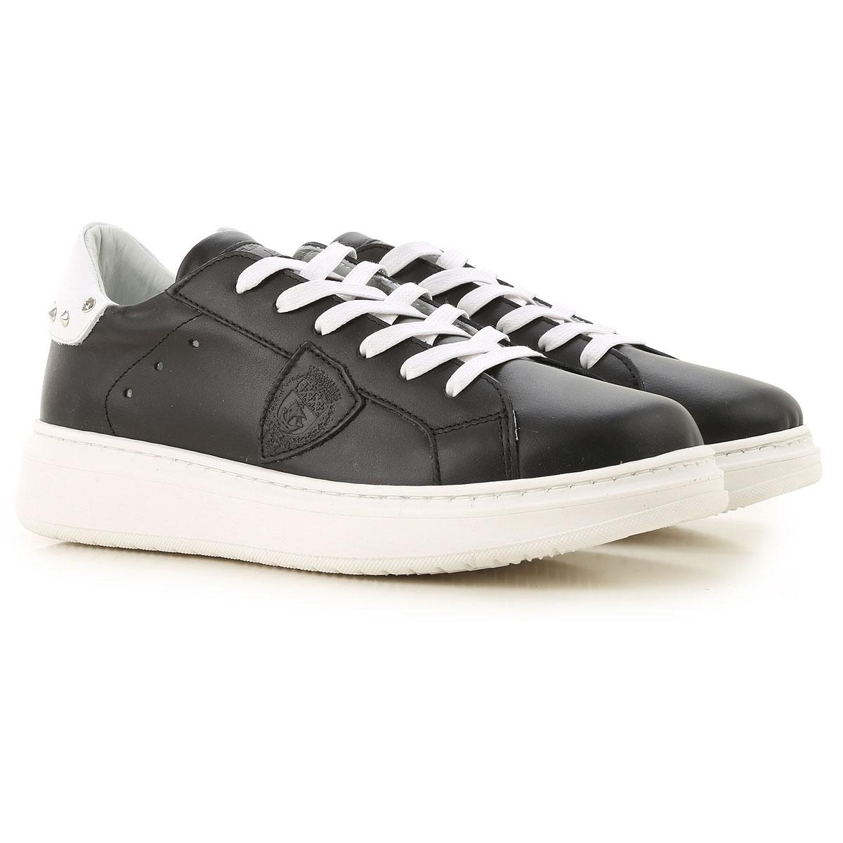 Philippe Model Chaussures Enfant pour Garçon Pas cher en Soldes, Noir, Cuir, 2019, 31 32 33 34 35