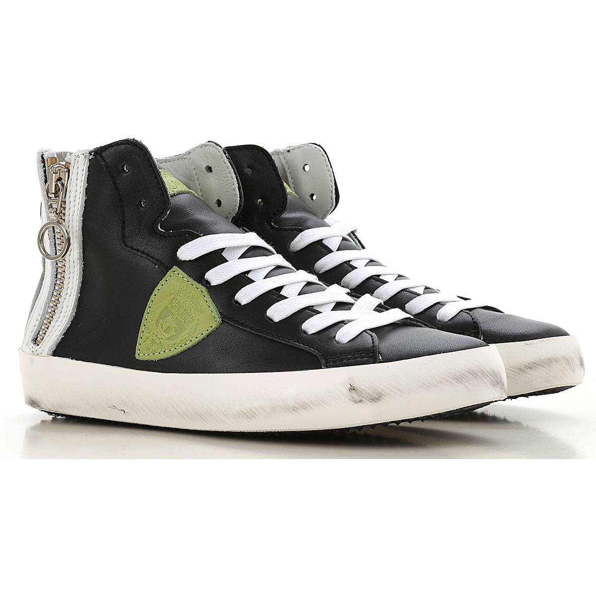 Image of Philippe Model Sneakers, Black, Calf Leather, 2017, 24 25 26 27 28 29 30 31 32 33 34 35