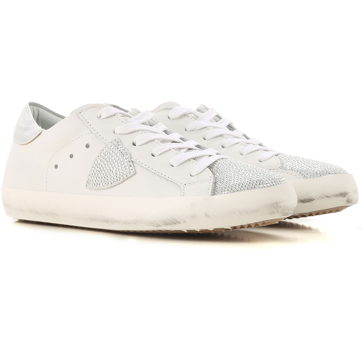 Philippe Model Kids Shoes for Girls On Sale, White, Leather, 2019, 28 30 31 32 33