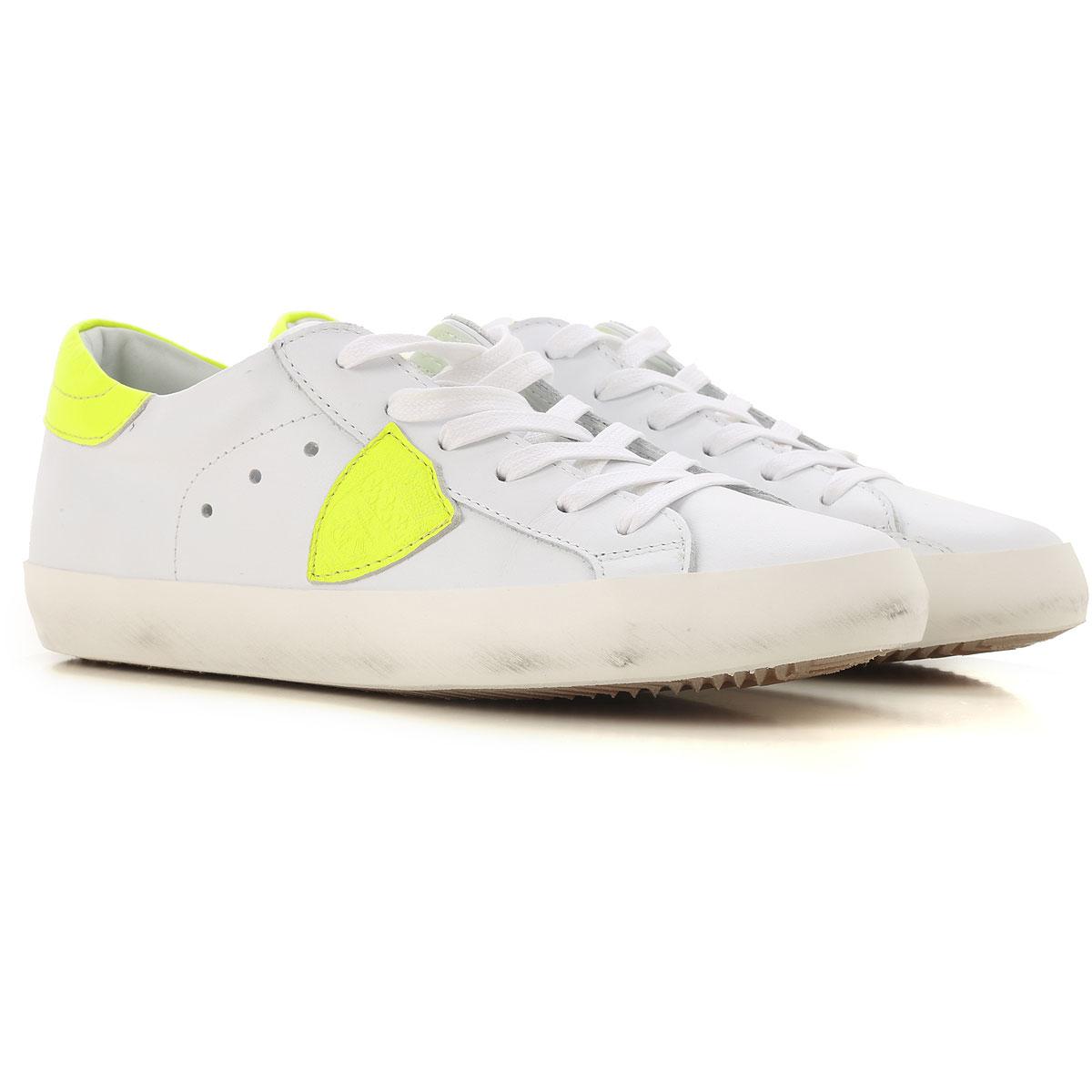 Philippe Model Chaussures Enfant pour Garçon, Blanc, Cuir, 2019, 31 32 33 34 36