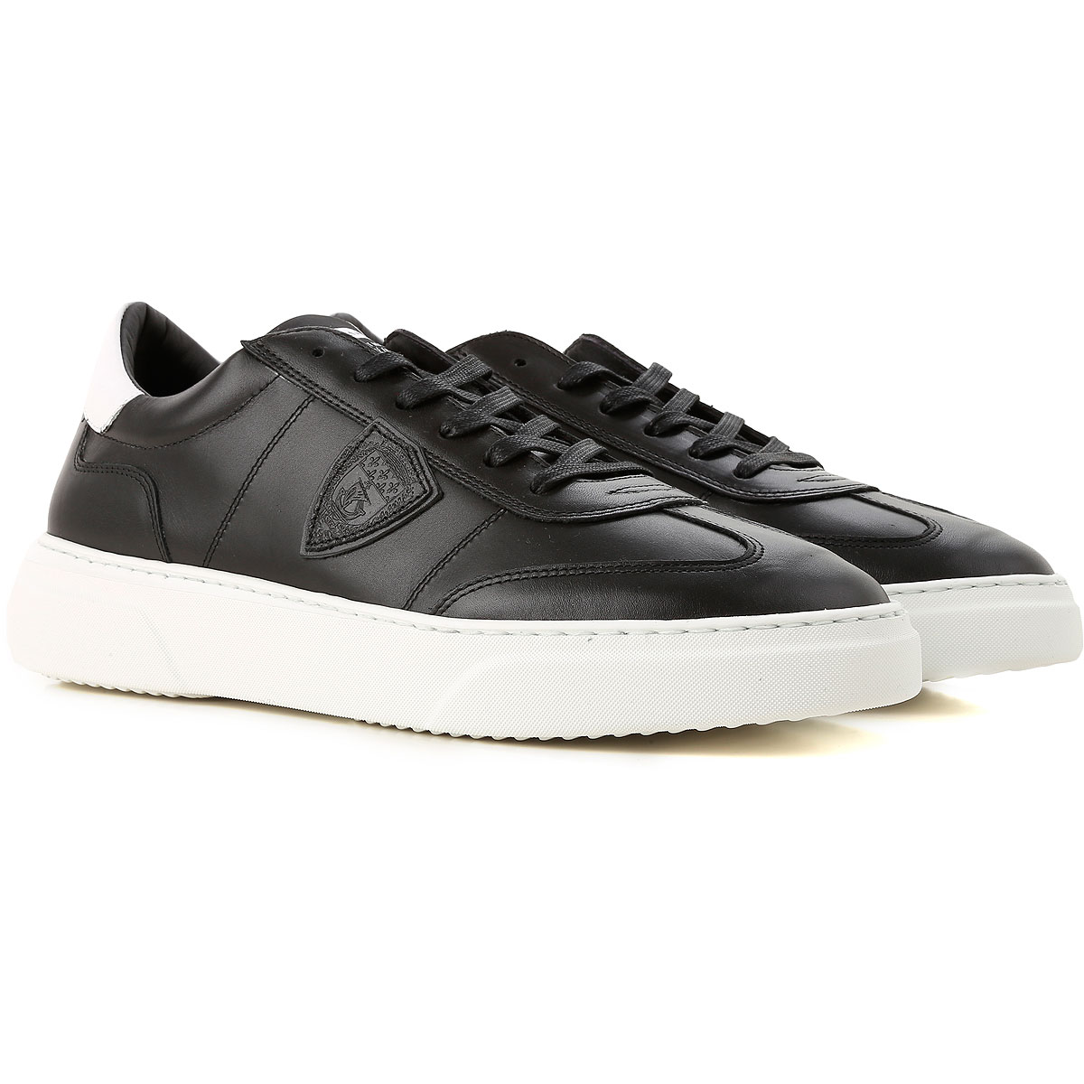 Philippe Model Sneakers for Men On Sale, Black, Leather, 2019, 10 11.5 6.5 7.5