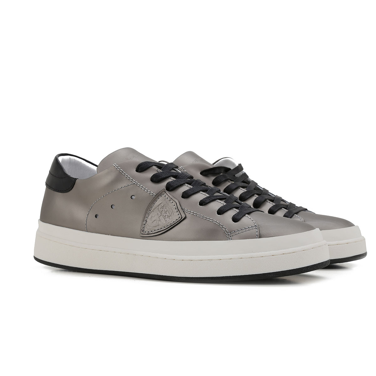 Philippe Model Sneakers for Men On Sale in Outlet, Metallic Grey, Leather, 2019, 7 9.5
