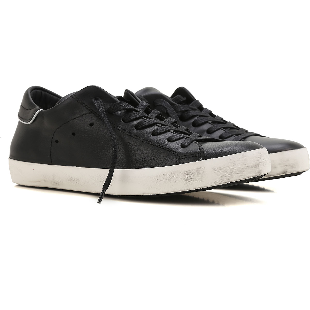 Philippe Model Sneakers for Men On Sale in Outlet, Black, Leather, 2019, 10.5 7.5