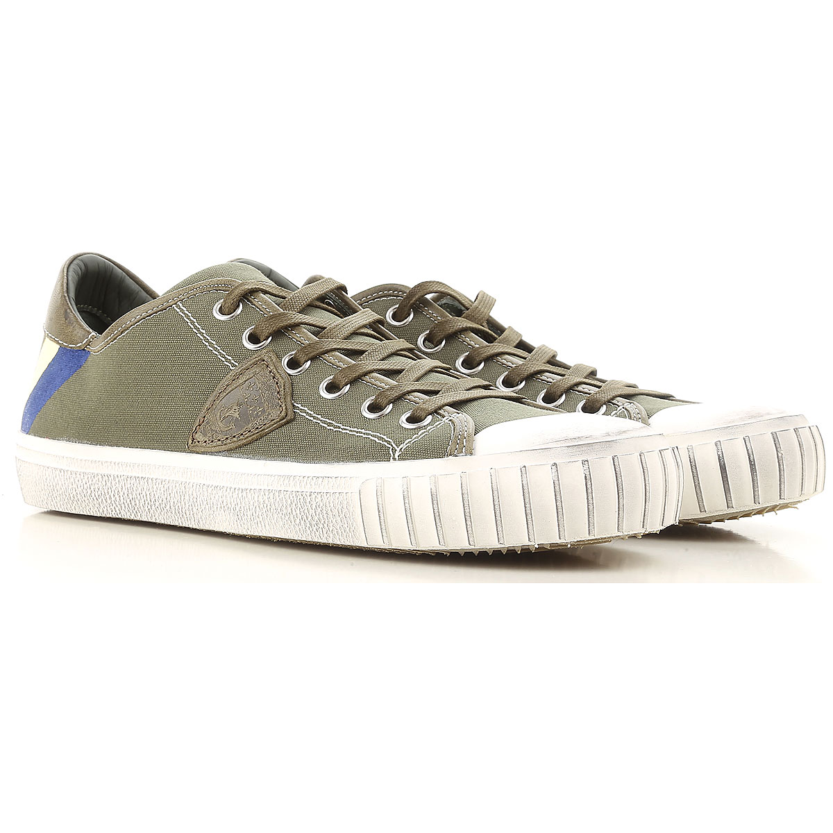 Philippe Model Sneakers for Men On Sale in Outlet, Military Green, Canvas, 2019, 6.5 9.5