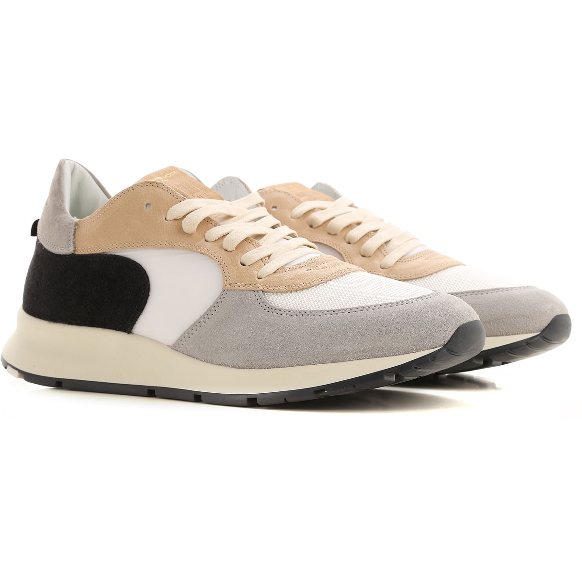 Philippe Model Sneakers for Men On Sale, Beige, Suede leather, 2019, 10 10.5 11.5 7.5 8 9