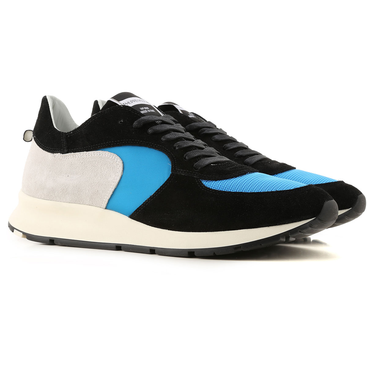 Philippe Model Sneakers for Men On Sale in Outlet, Black, Suede leather, 2019, 8 9