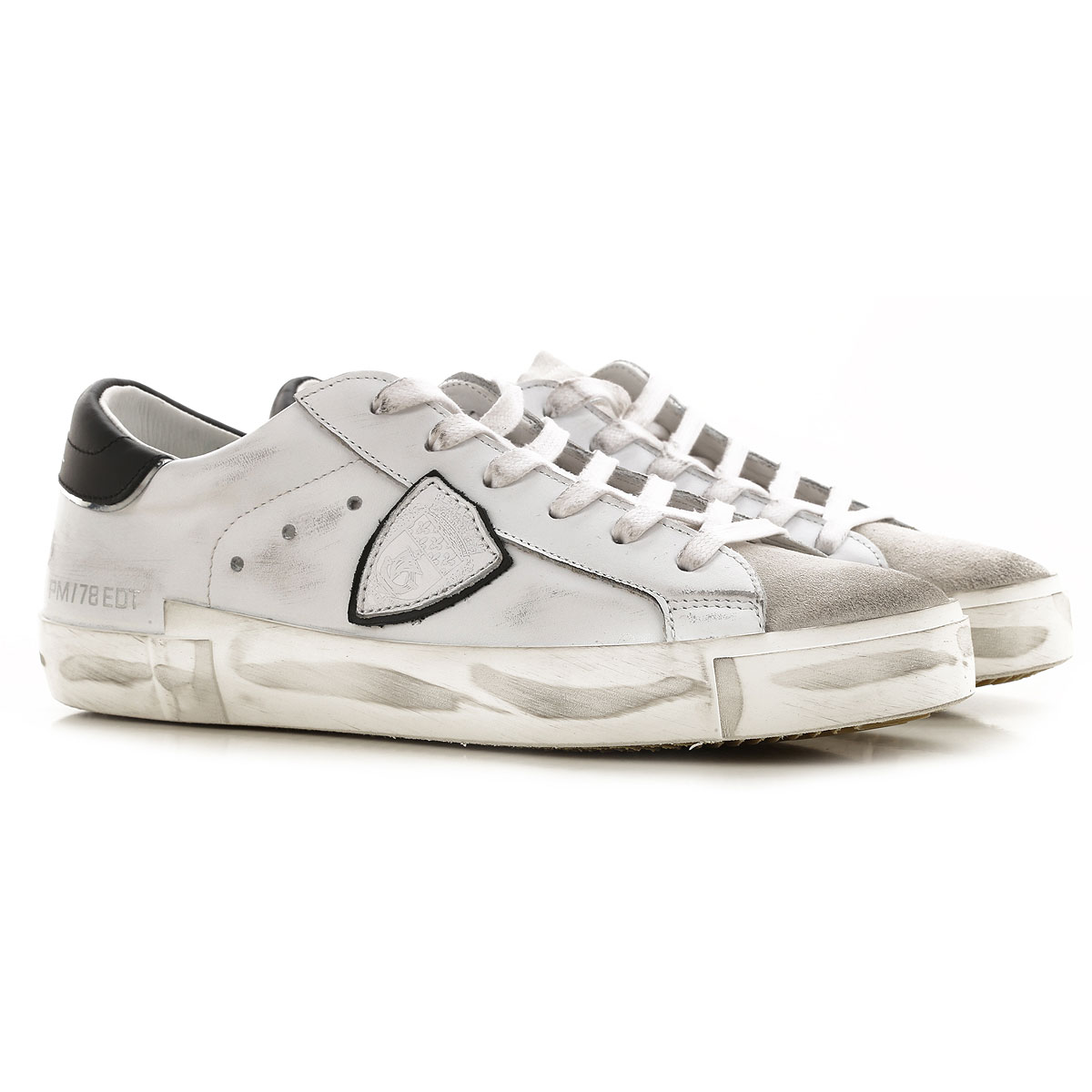 Philippe Model Sneakers for Men On Sale, Dirty White, Leather, 2019, 10.5 11.5 12 7.5 8 9