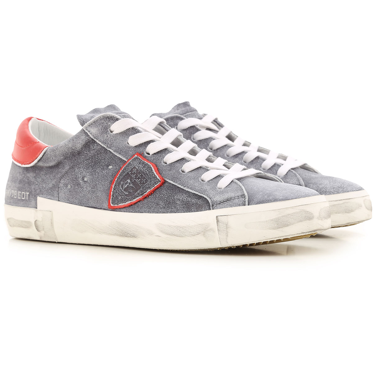 Philippe Model Sneakers for Men On Sale, Faded Grey, Suede leather, 2019, 10 10.5 11.5 8 9
