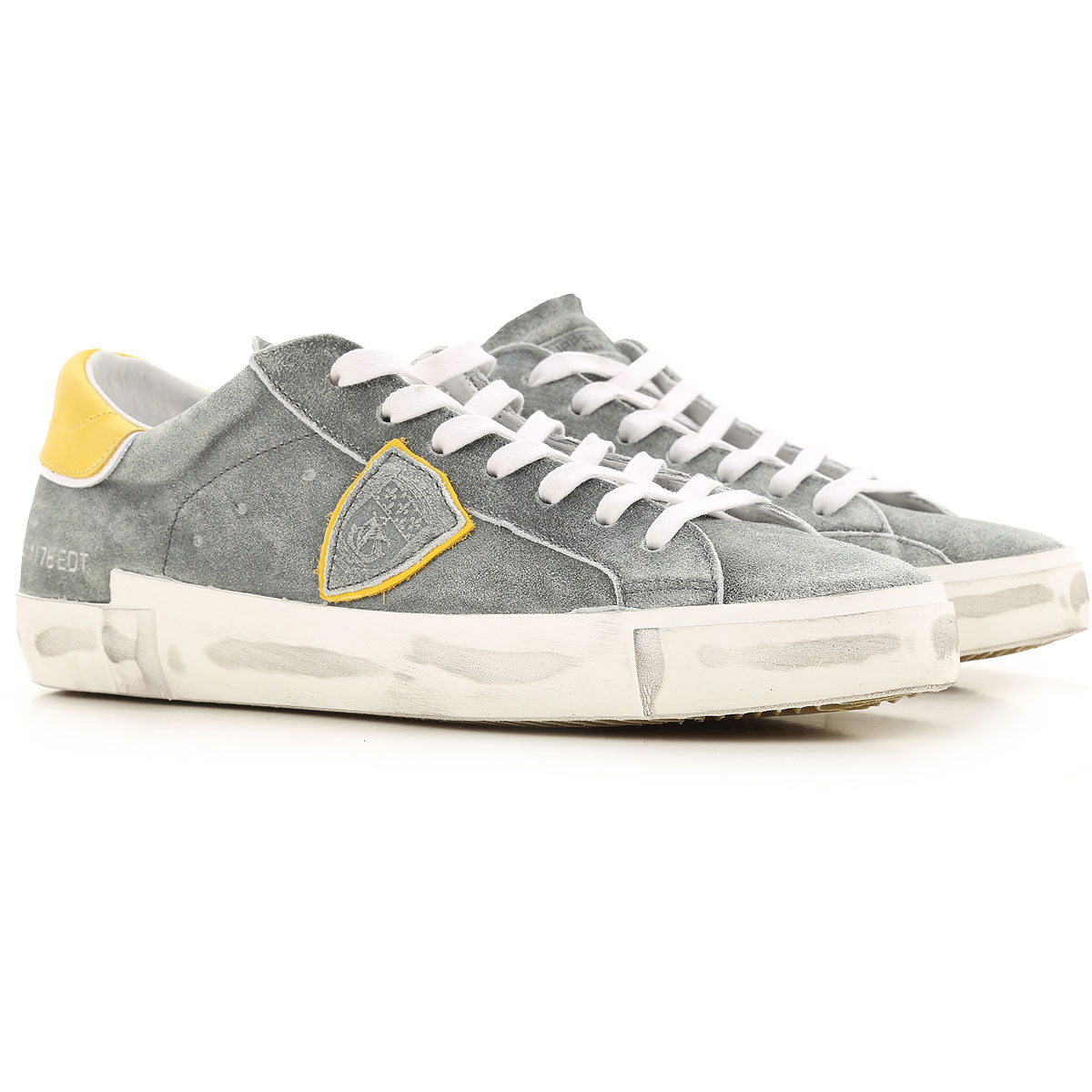 Philippe Model Sneakers for Men On Sale, Faded Military Green, Suede leather, 2019, 10 11.5 12 8 9
