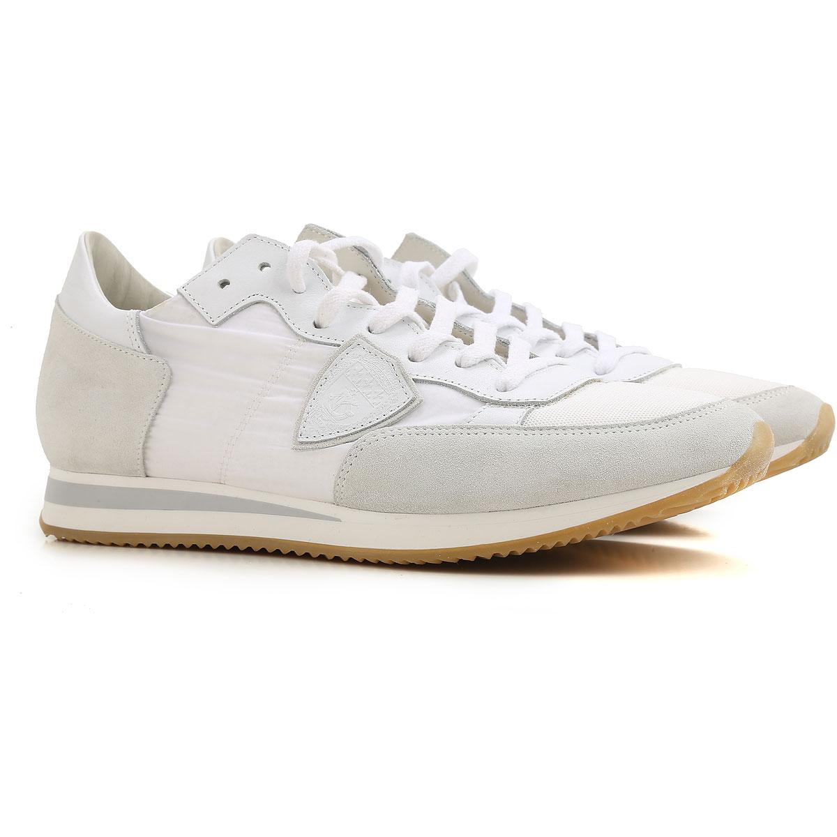 Philippe Model Sneaker Homme Pas cher en Soldes, Blanc, Tissu, 2019, 39 40 41 42 43 44