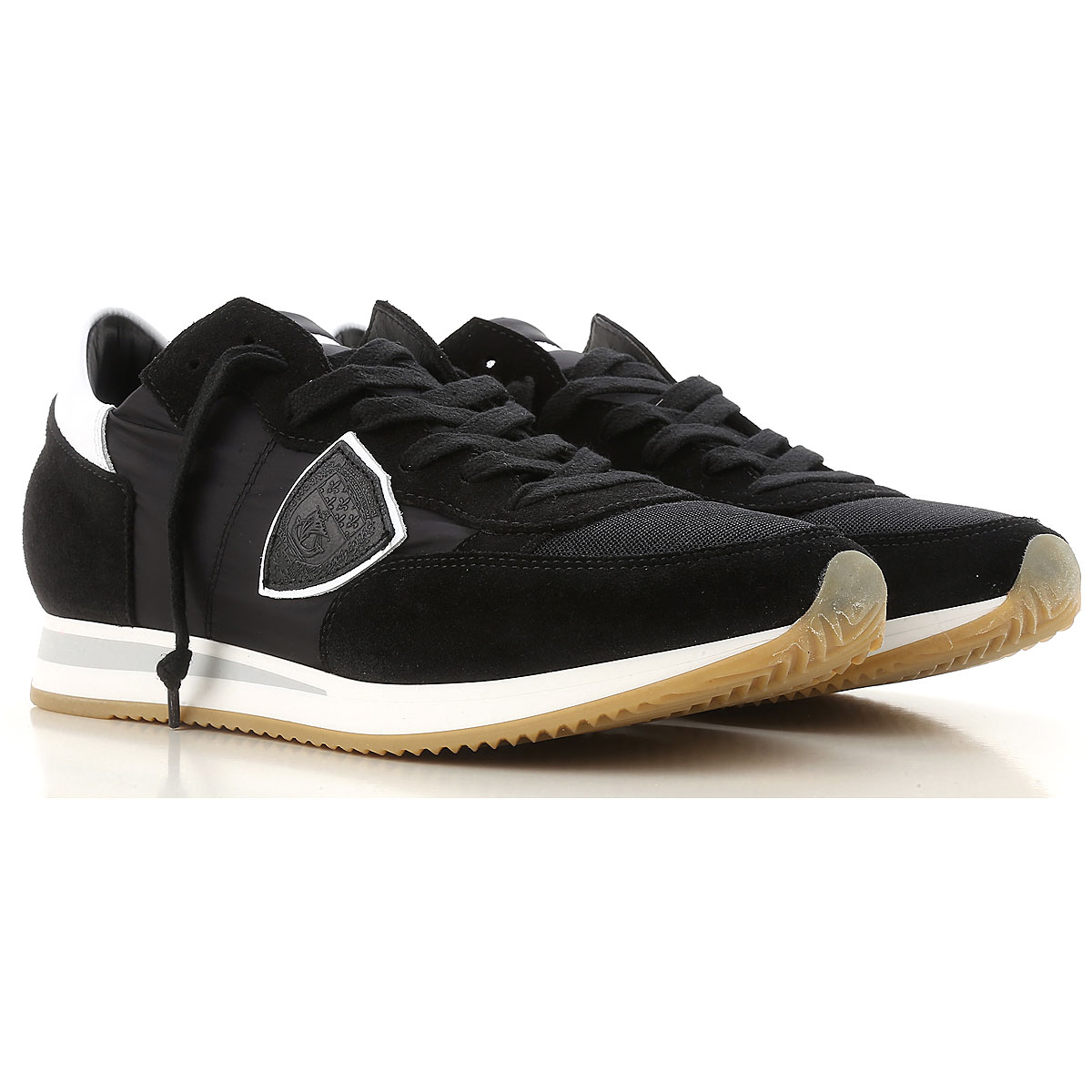 Philippe Model Sneakers for Men On Sale, Black, Suede leather, 2019, 10 11.5 7.5 8 9