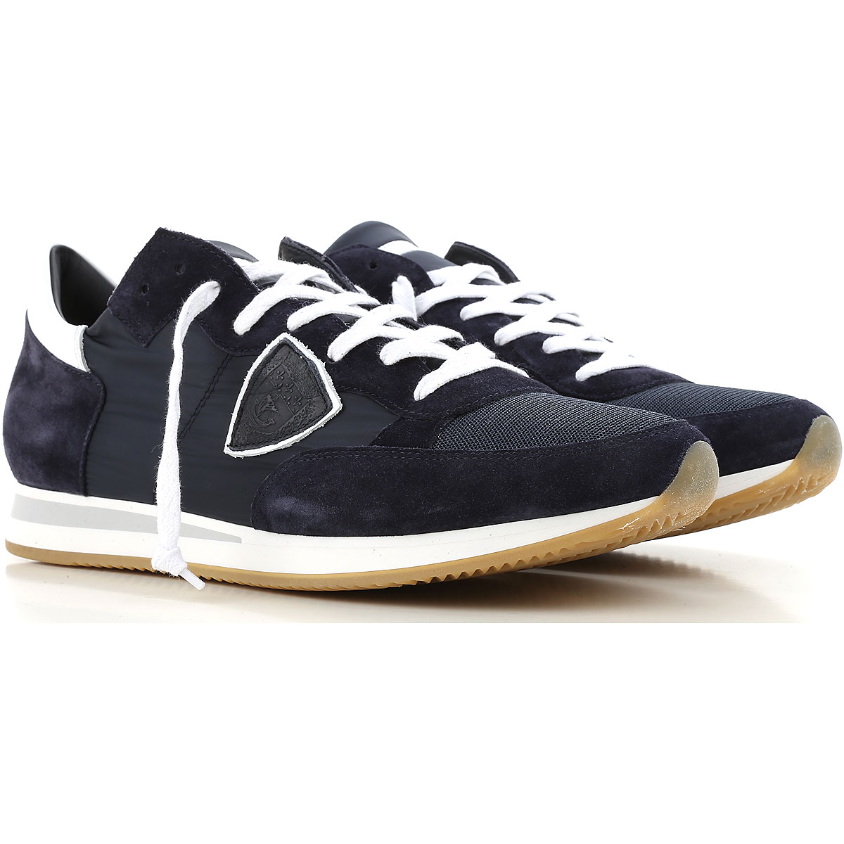 Philippe Model Sneakers for Men On Sale, Basic Blue, Suede leather, 2019, 10 10.5 11.5 6.5 7.5 8 9