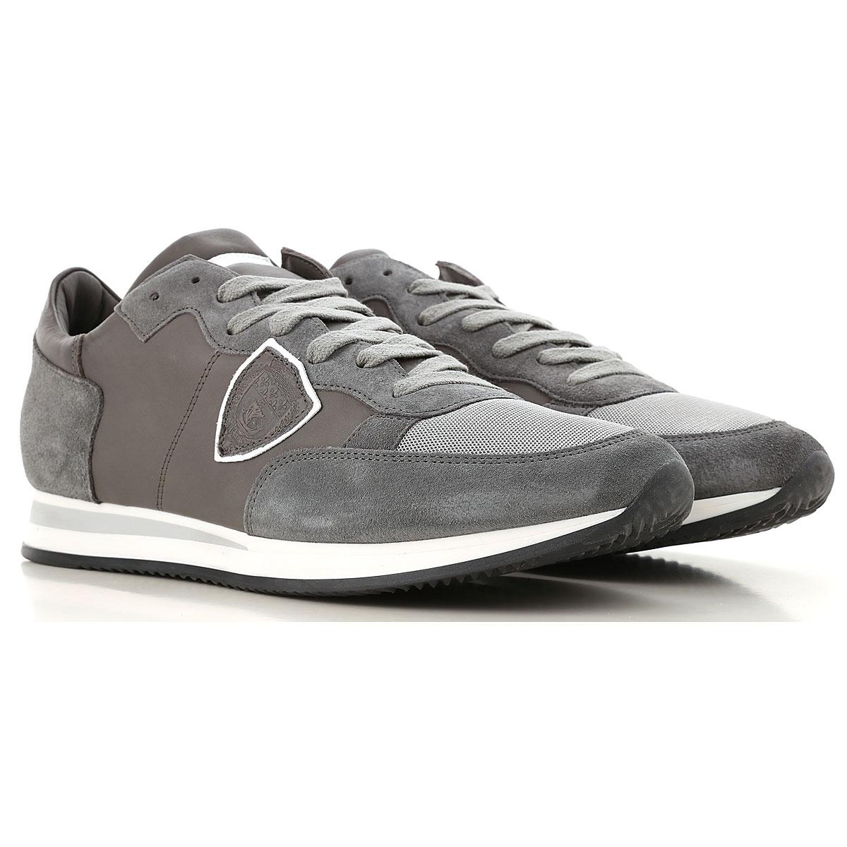 Philippe Model Sneaker Homme, Charbon, Daim, 2019, 42 43 44 45