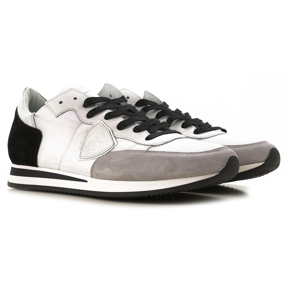 Philippe Model Sneakers voor Mannen In Aanbieding, Wit, Leder, 2019, 41 42 43