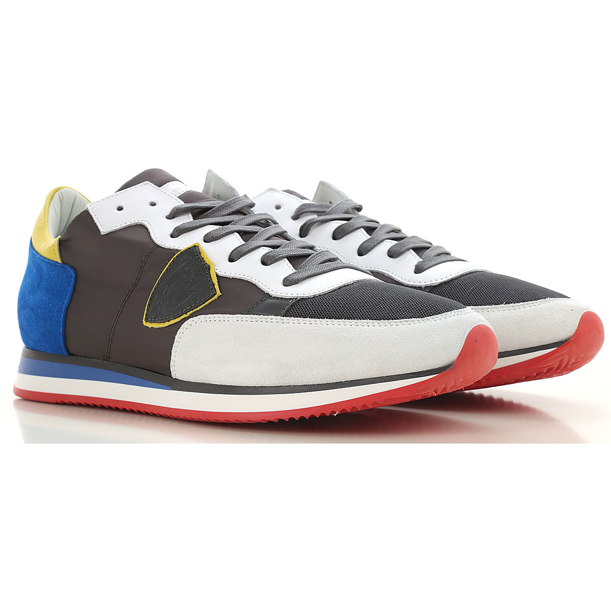 Philippe Model Sneakers for Men On Sale, Grey, Suede leather, 2019, 10.5 11.5