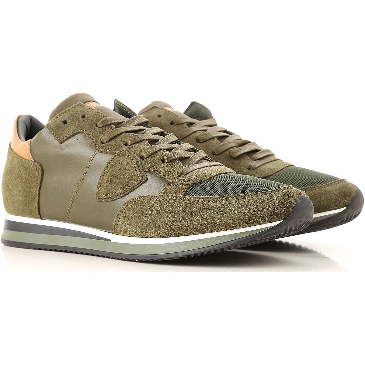 Philippe Model Sneaker Homme Pas cher en Soldes, Vert, Cuir, 2019, 39 40 42 43 44 45