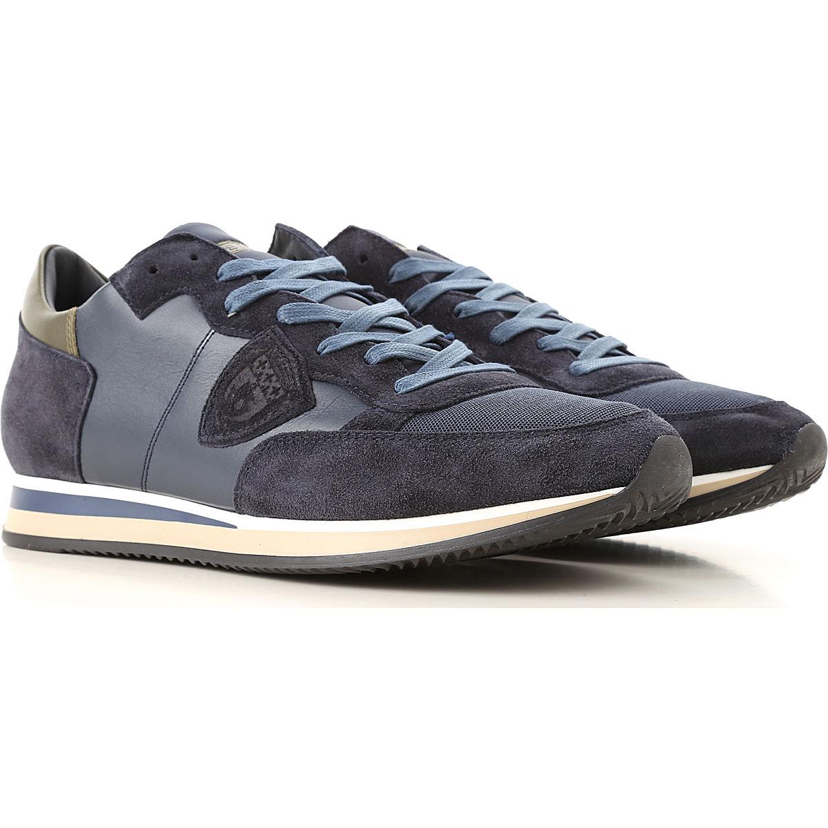 Philippe Model Sneakers voor Mannen In Aanbieding, Blauw, Suede Leder, 2019, 41 43 45