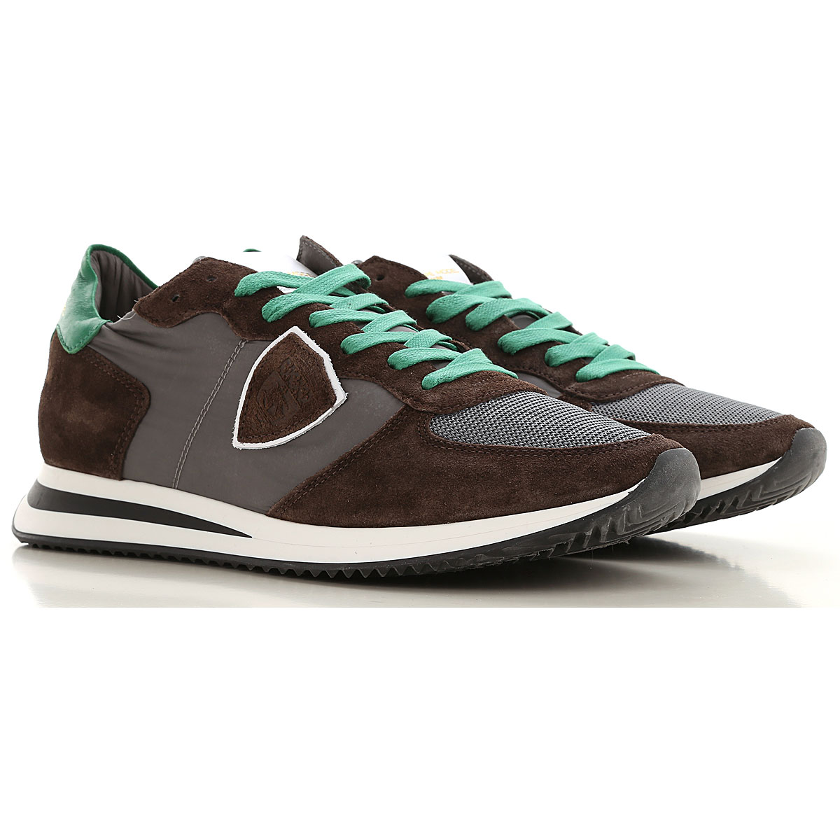 Philippe Model Sneakers for Men On Sale, Brown, Leather, 2019, 10.5 9