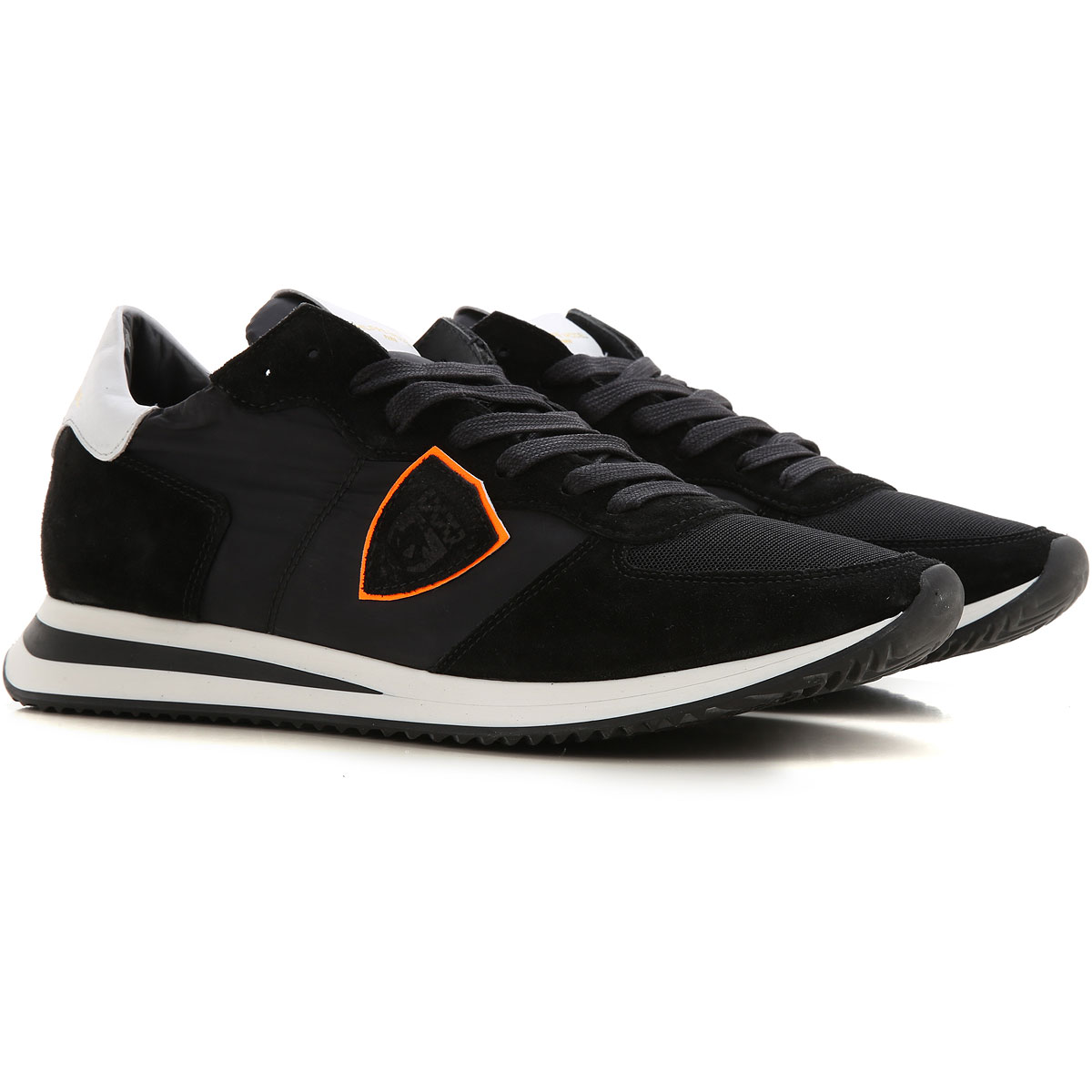 Philippe Model Sneakers for Men On Sale, Black, Suede leather, 2019, 12 7.5