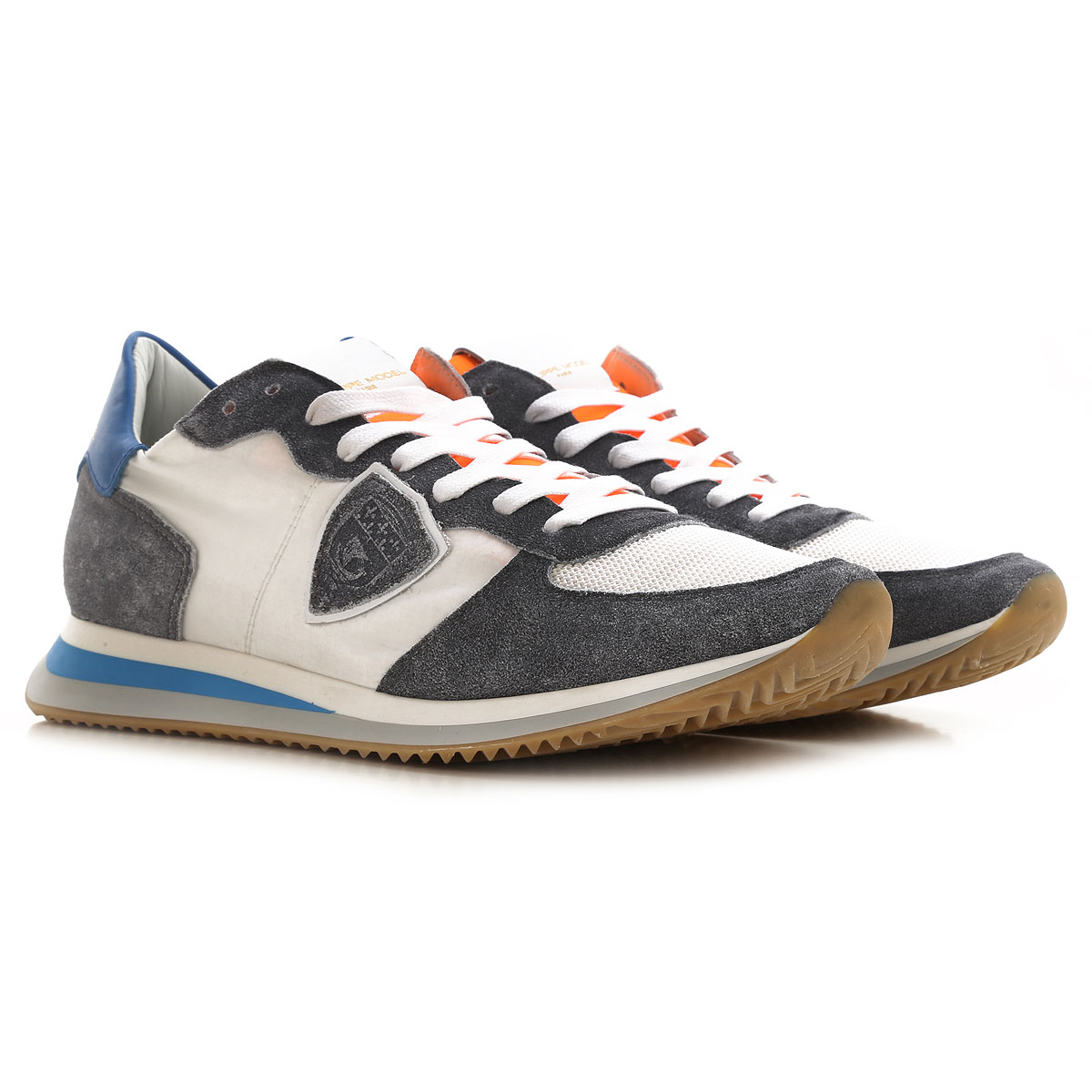 Philippe Model Sneakers for Men On Sale, Grey Melange, Suede leather, 2019, 10 10.5 11.5 7.5 8 9
