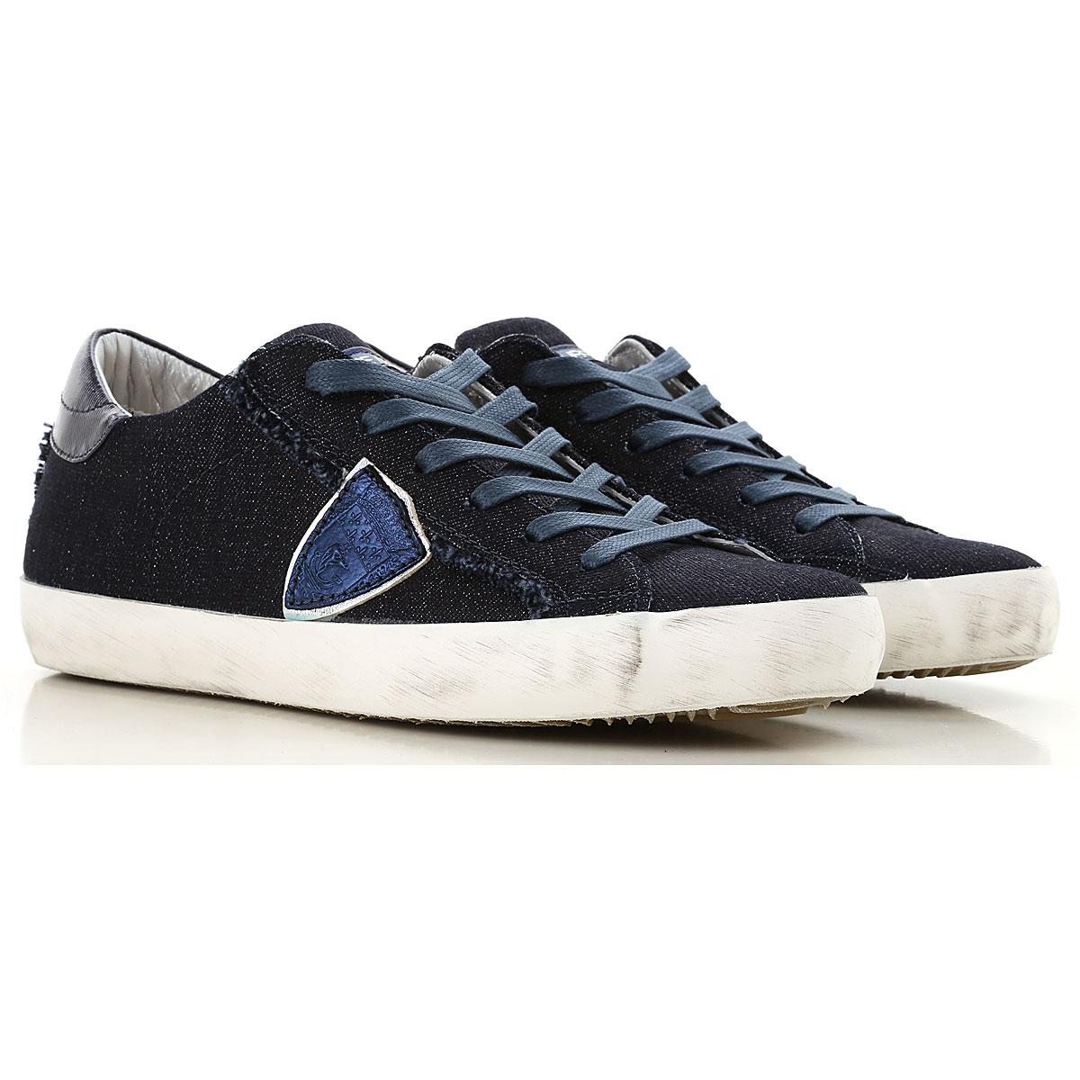 Philippe Model Sneakers for Women On Sale, Blue Denim, Denim, 2019, 3.5 4.5 6.5 7.5