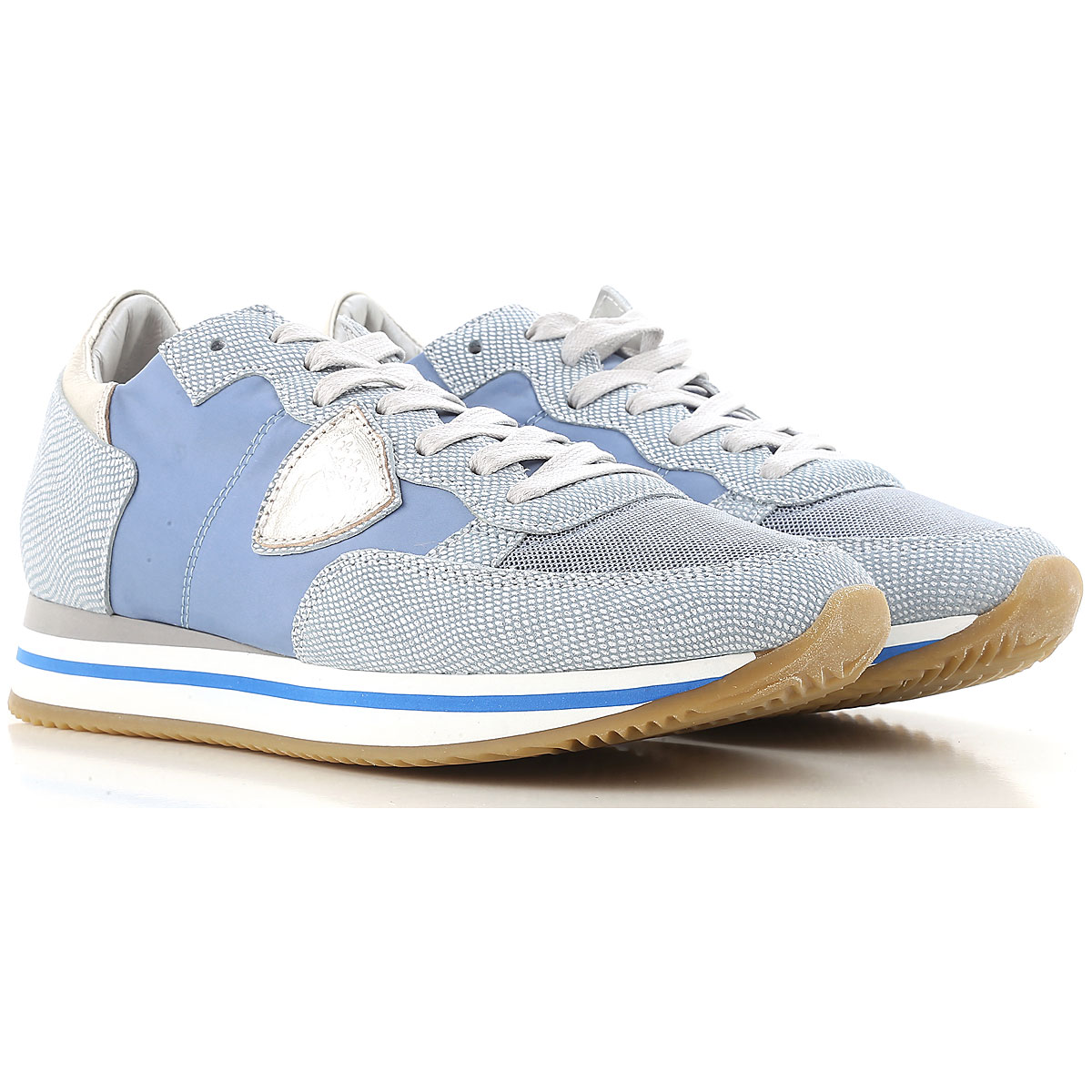 Philippe Model Sneakers for Women On Sale in Outlet, Light Blue, Fabric, 2019, 5 7