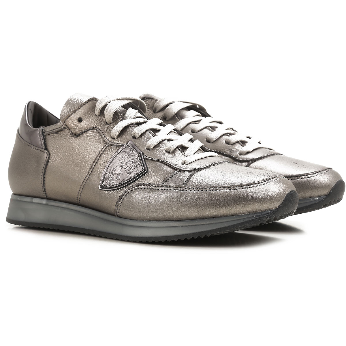 Philippe Model Sneakers for Women On Sale in Outlet, Silver, Leather, 2019, 4.5 5.5 6.5