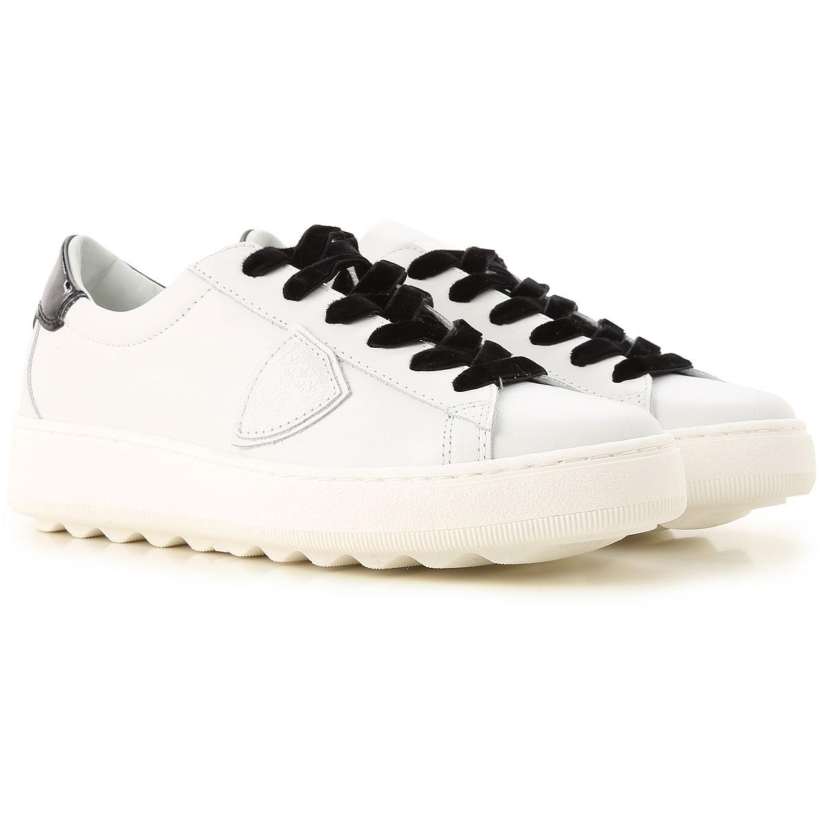 Philippe Model Sneakers voor Dames In Aanbieding, Wit, Leder, 2019, 36 39