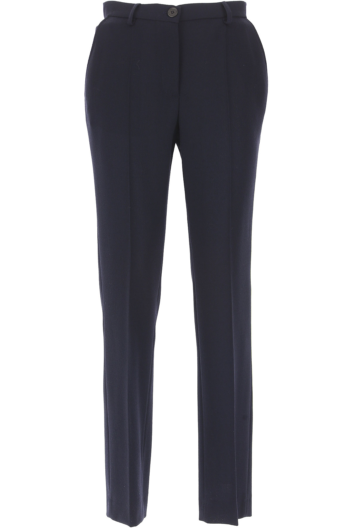 Piccione.Piccione Pantalon Femme Pas cher en Soldes, Minuit, Polyester, 2017, 40 42 44