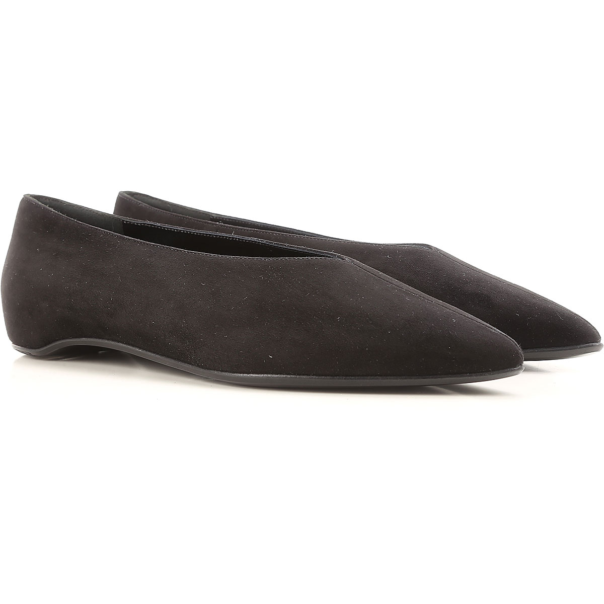 Image of Pierre Hardy Ballet Flats Ballerina Shoes for Women On Sale, Black, suede, 2017, 10 6 8 8.5