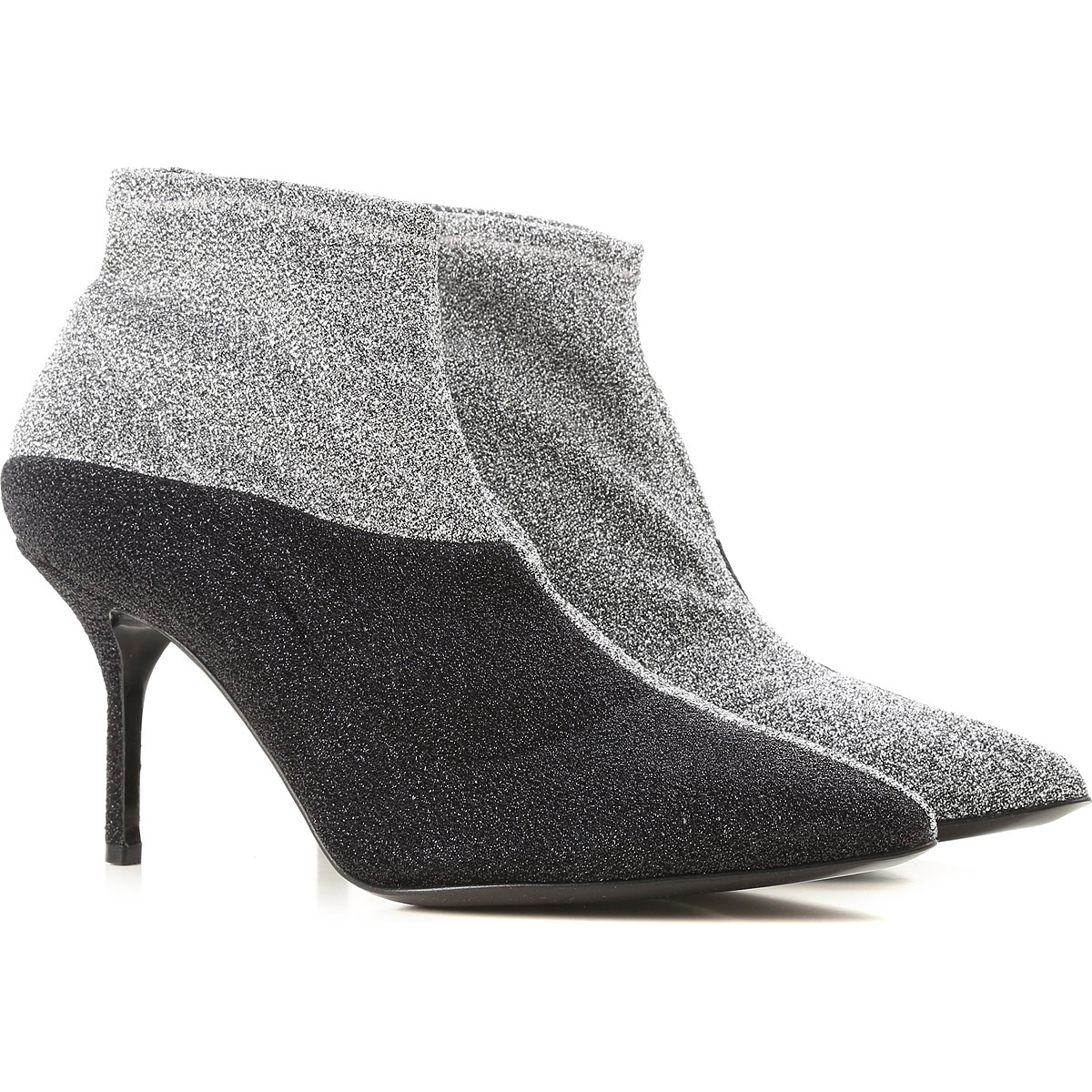 Image of Pierre Hardy Boots for Women, Booties, Silver, polyester, 2017, 10 6 7 8 9