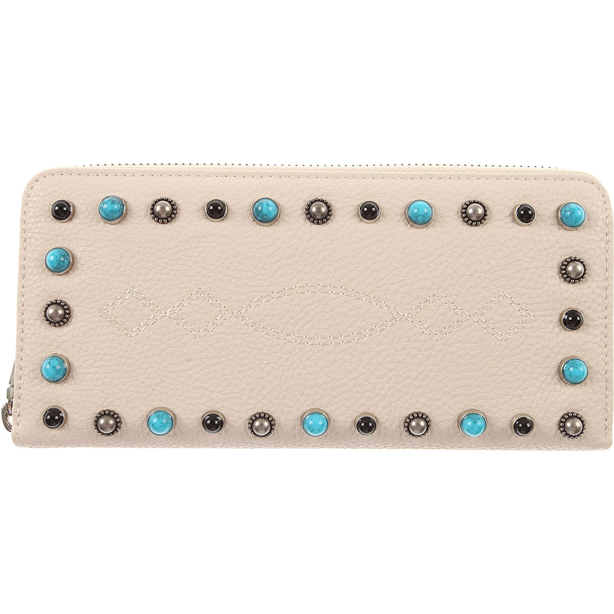 Image of Pinko Wallet for Women, Cream, Leather, 2017
