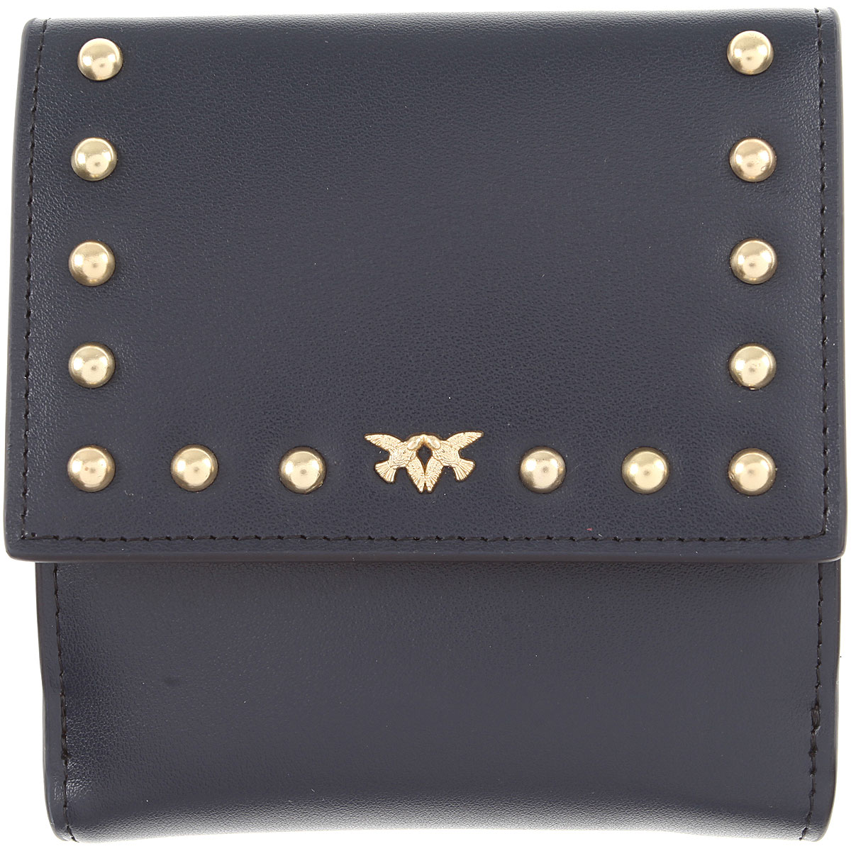 Image of Pinko Wallet for Women, Dark Blue Navy, Leather, 2017