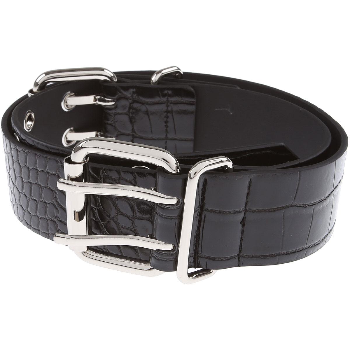 Pinko Belt for Women On Sale, Black, Fabric, 2019, Medium Large