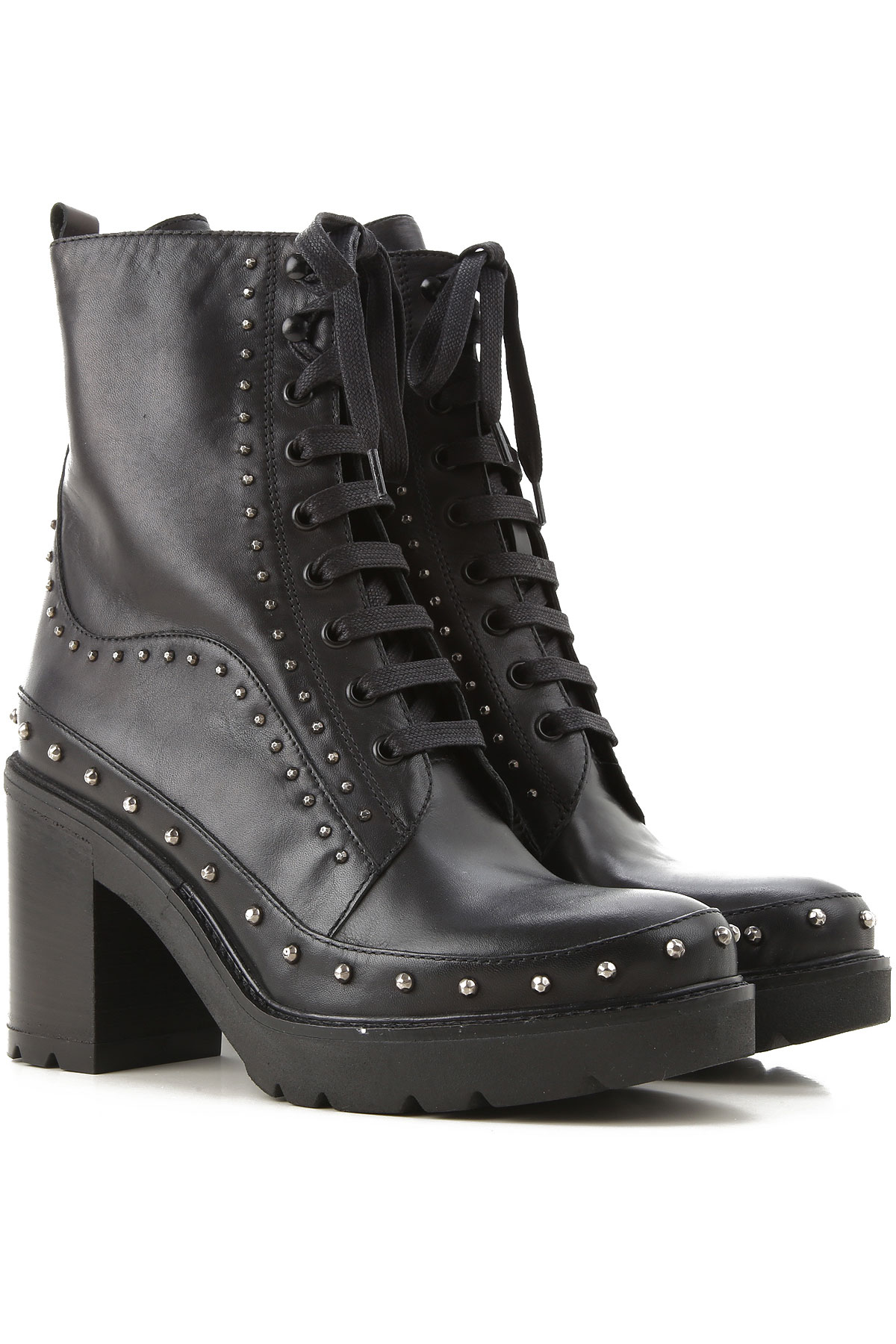 Pinko Boots for Women, Booties On Sale, Black, Leather, 2019, 5 6 8