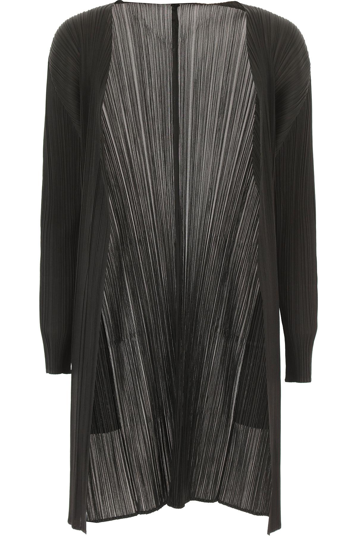 Pleats Please Jacket for Women On Sale, Black, polyester, 2019, 4