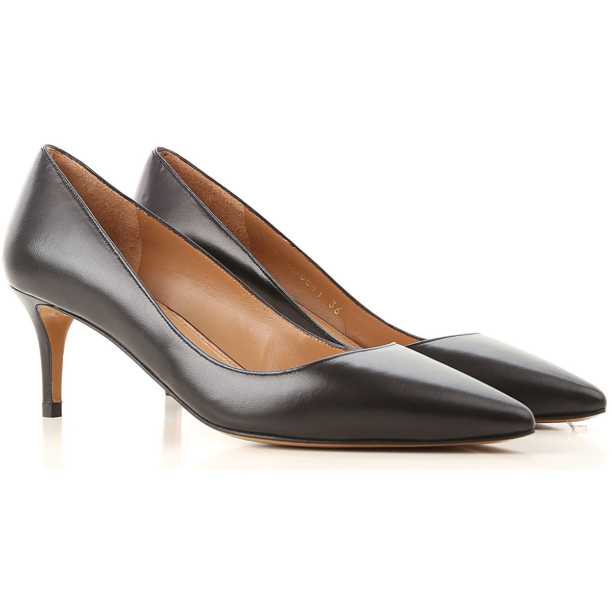Image of Pura Lopez Pumps & High Heels for Women, Black, Leather, 2017, 10 6 7 8 9