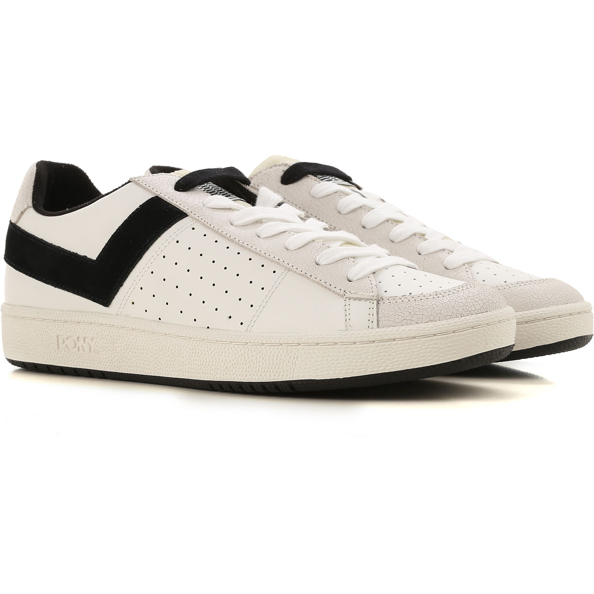Pony Sneakers for Men On Sale, White, Leather, 2019, 10 9