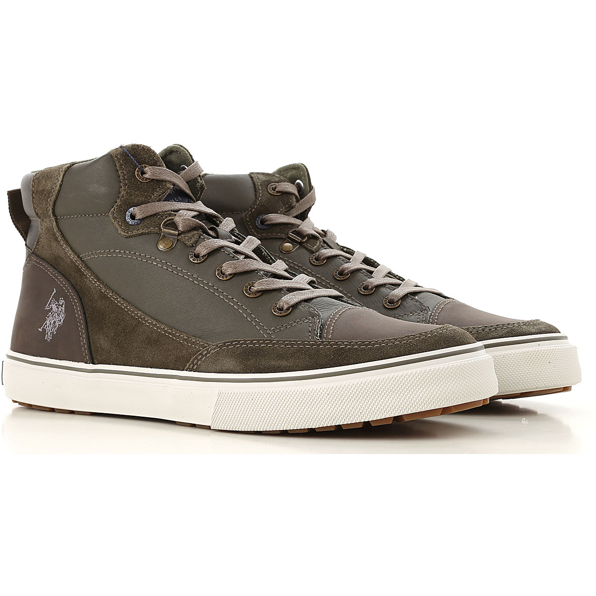 Image of U.S. Polo Sneakers for Men, Military Green, Leather, 2017, UK 6 - EUR 40 - US 7 UK 7 - EUR 41 - US 8 UK 8 - EUR 42 - US 9 UK 9 - EUR 43 - US 10 UK 10 - EUR 44 - US 11