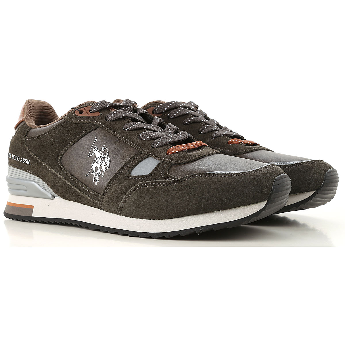 Image of U.S. Polo Sneakers for Men, Dark Green, Suede leather, 2017, UK 6 - EUR 40 - US 7 UK 7 - EUR 41 - US 8 UK 8 - EUR 42 - US 9 UK 9 - EUR 43 - US 10