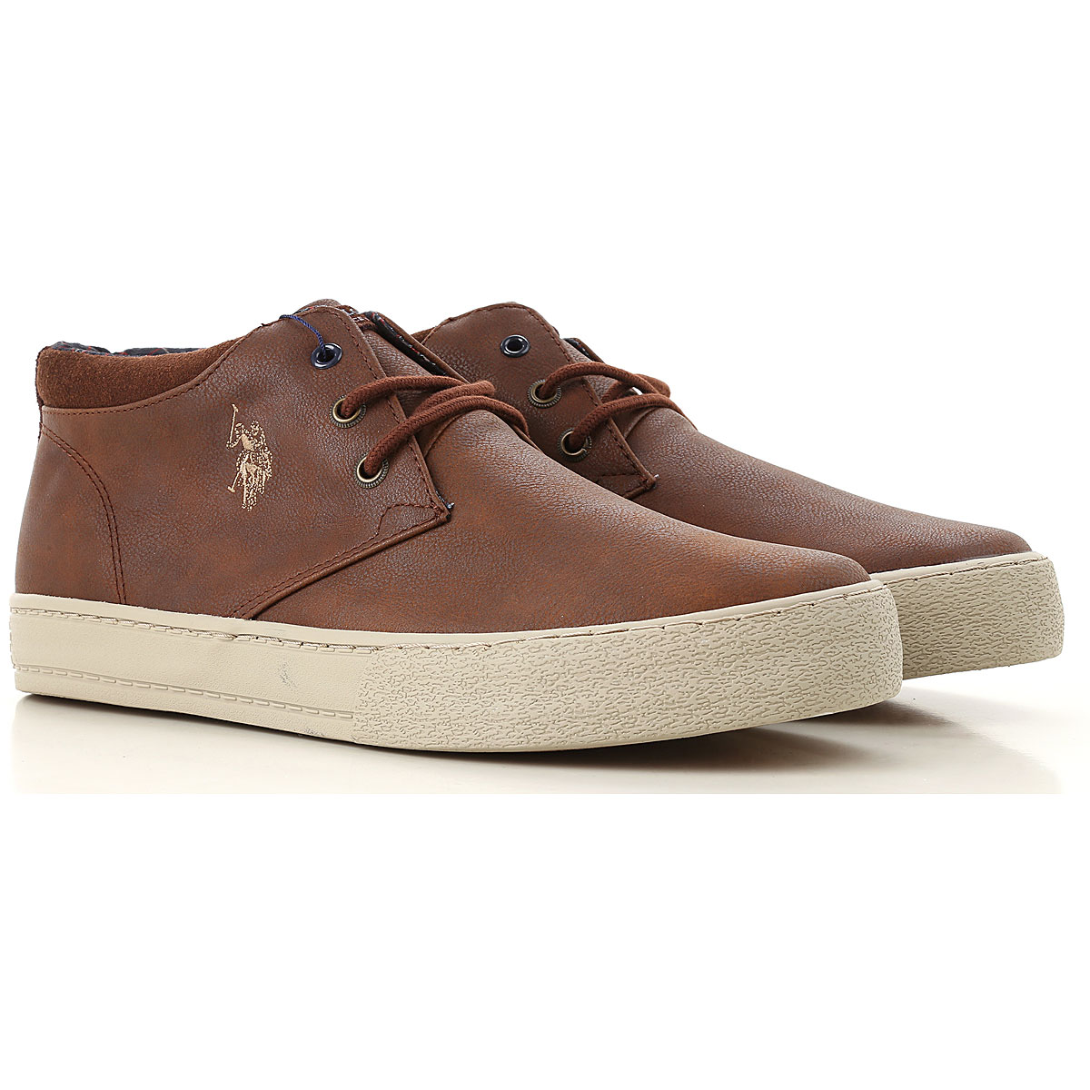 Image of U.S. Polo Sneakers for Men, Leather Brown, Leather, 2017, UK 6 - EUR 40 - US 7 UK 7 - EUR 41 - US 8 UK 8 - EUR 42 - US 9 UK 9 - EUR 43 - US 10 UK 10 - EUR 44 - US 11