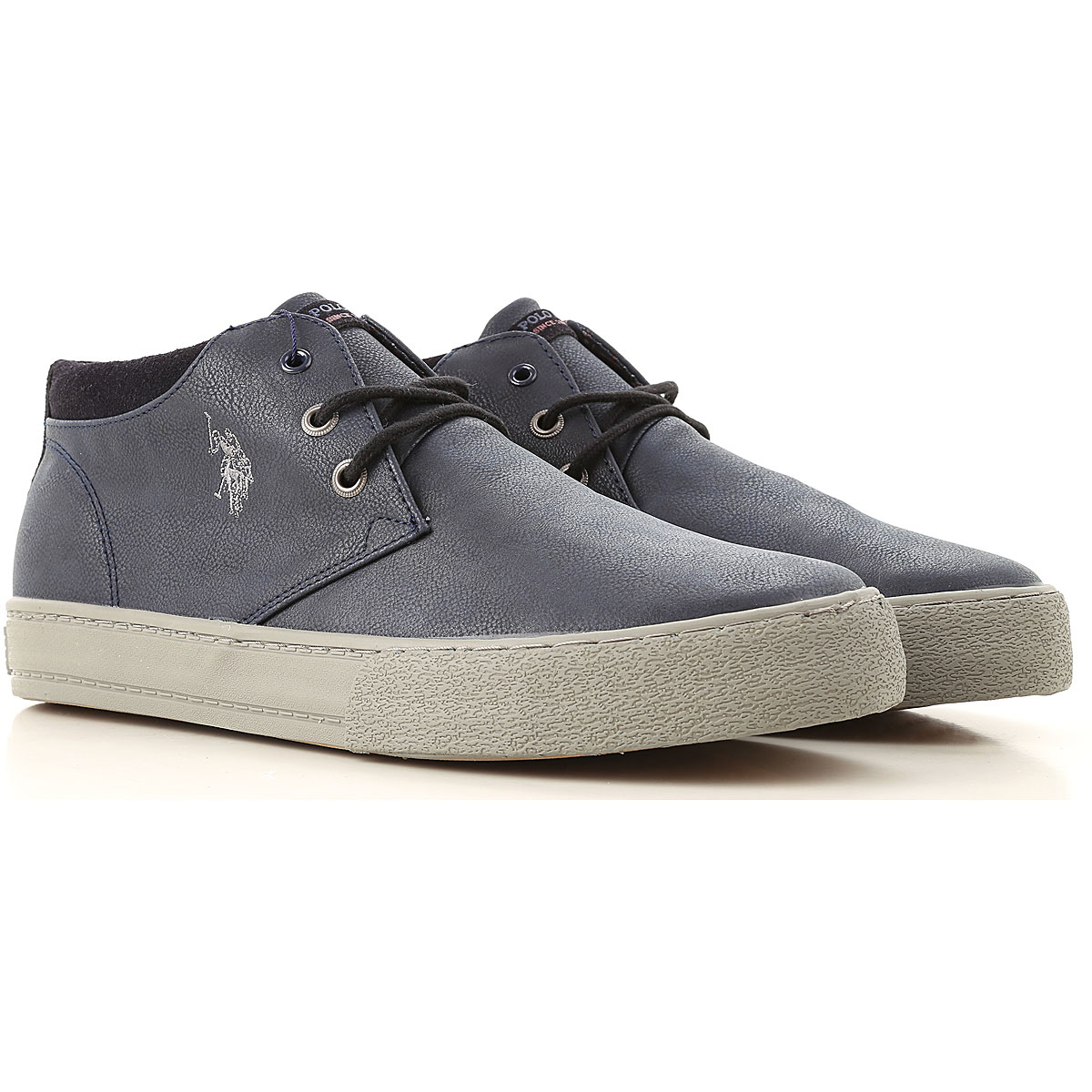 Image of U.S. Polo Sneakers for Men, Navy Blue, Leather, 2017, UK 6 - EUR 40 - US 7 UK 7 - EUR 41 - US 8 UK 8 - EUR 42 - US 9 UK 9 - EUR 43 - US 10 UK 10 - EUR 44 - US 11
