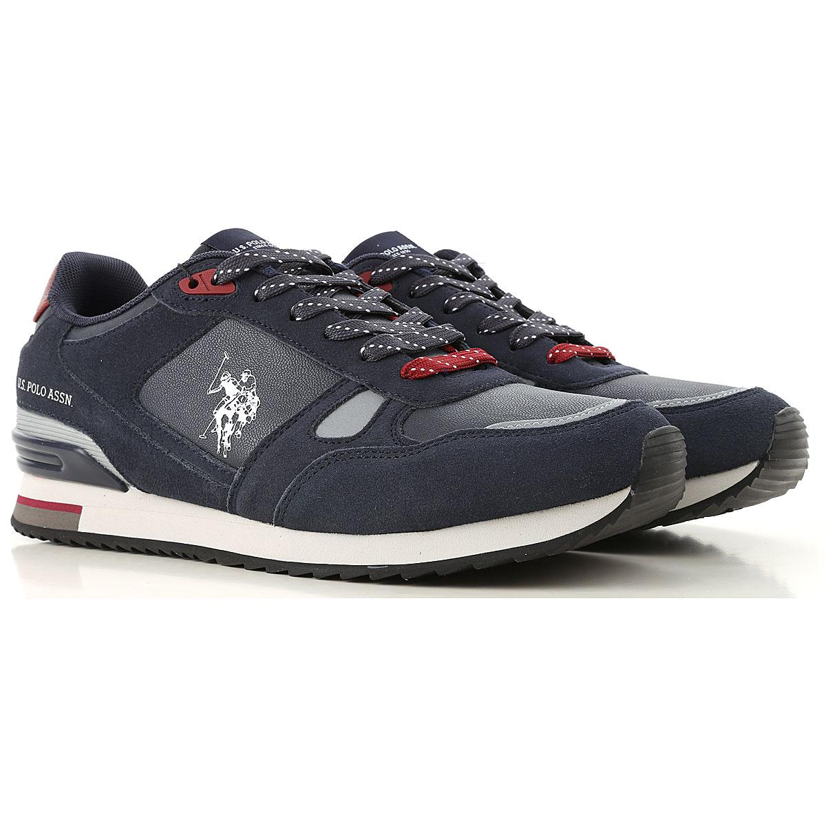 Image of U.S. Polo Sneakers for Men, Dark Blue, Leather, 2017, UK 6 - EUR 40 - US 7 UK 7 - EUR 41 - US 8 UK 8 - EUR 42 - US 9 UK 9 - EUR 43 - US 10 UK 10 - EUR 44 - US 11
