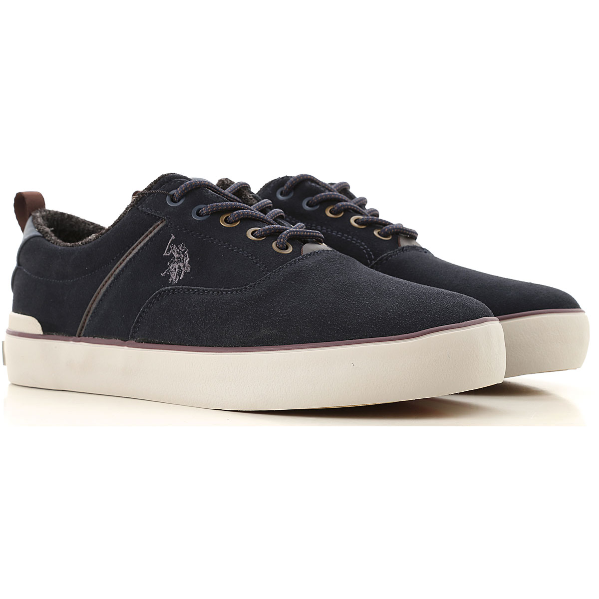 U.S. Polo Sneakers for Men On Sale, navy, Soft Suede Leather, 2019, 10 7 8 9
