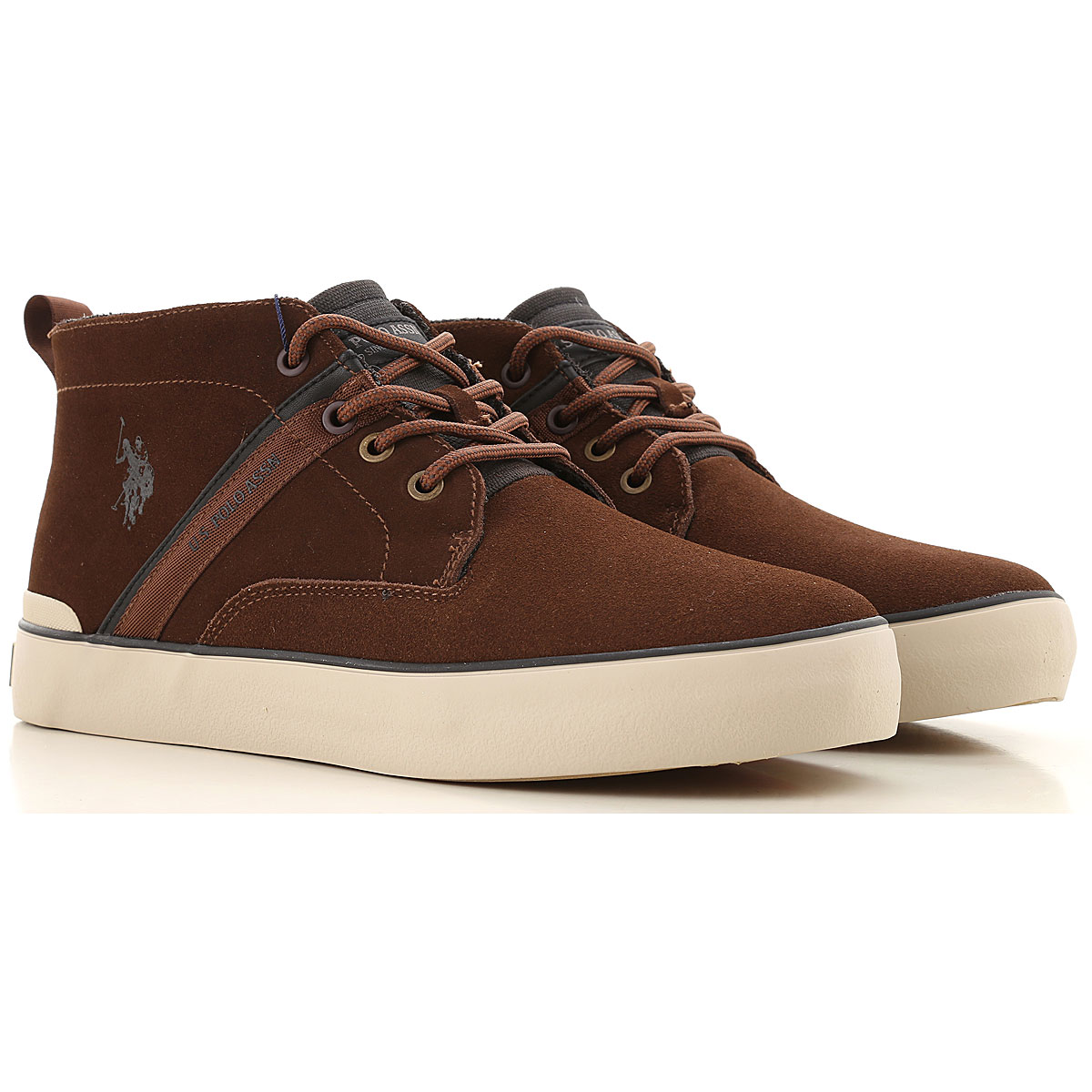 U.S. Polo Desert Boots Chukka for Men On Sale, Brown, Leather, 2019, 10 7 8 9