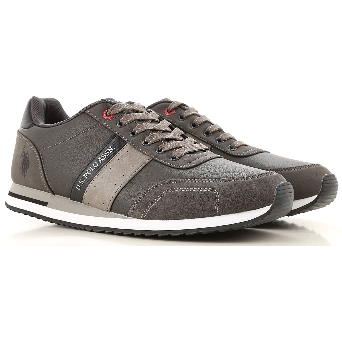 U.S. Polo Sneakers for Men On Sale, antracite, Eco Leather, 2019, 10 7 8 9