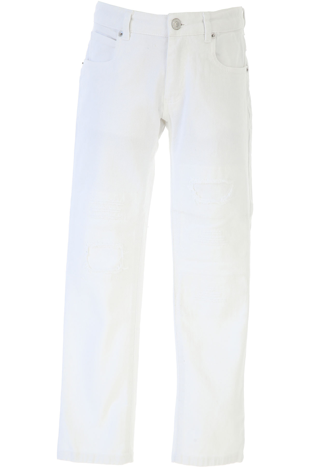 Paolo Pecora Kids Pants for Boys On Sale, White, Cotton, 2019, 12Y 14Y 8Y