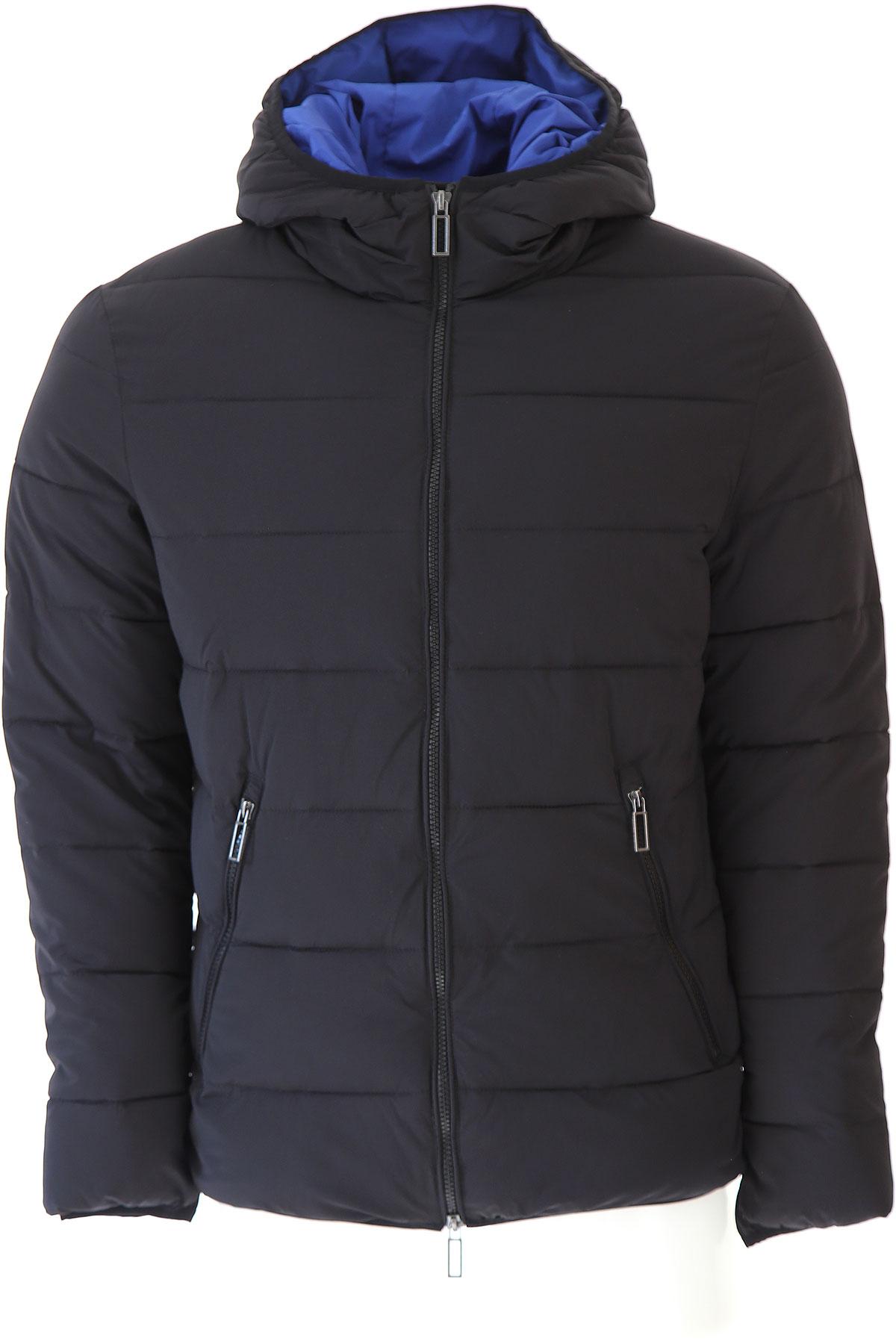Image of Paolo Pecora Down Jacket for Men, Puffer Ski Jacket, Black, polyamide, 2017, L M S XL